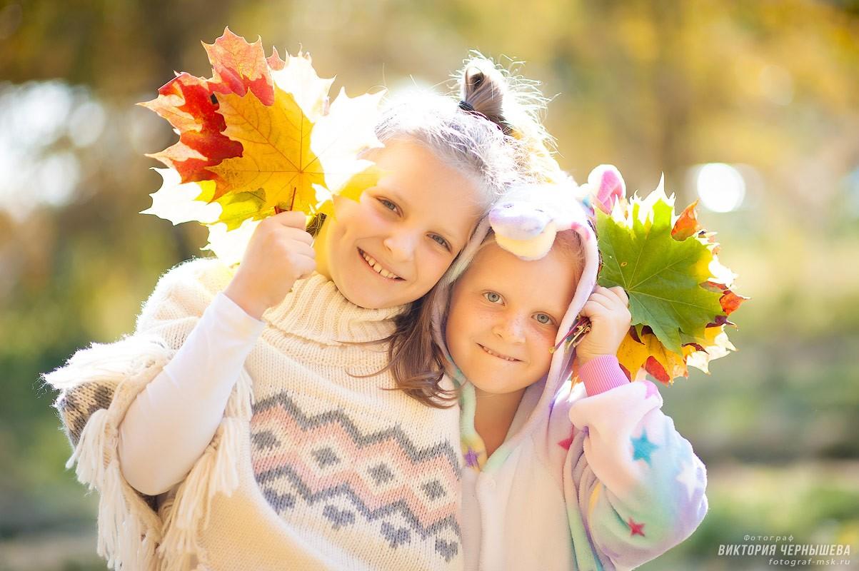 Осенняя фотосессия в костюме единорога